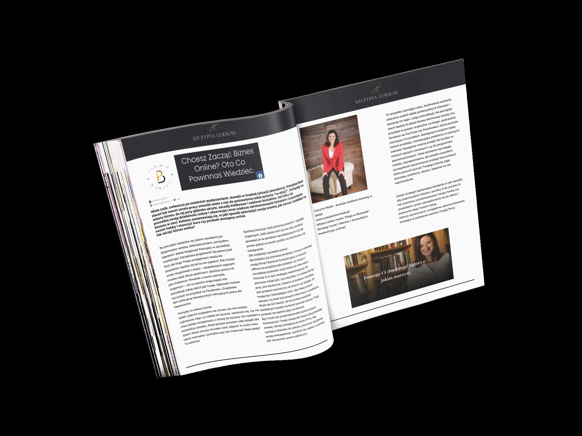 Szczypta luksusu Chcesz Zacząć Biznes Online? Oto Co Powinnaś Wiedzieć. 08.03.2021